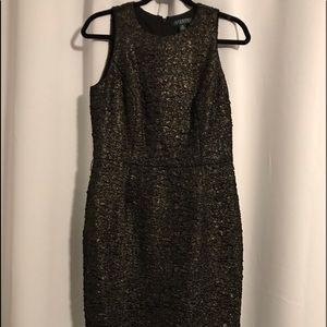 RALPH LAUREN black/gold cocktail dress size 10